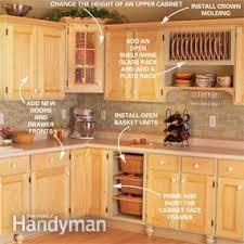 remove kitchen cabinet doors for open shelving cabinet facelift diy
