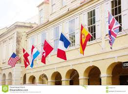 Virgin Islands Flag Christiansted Us Virgin Islands Historical Owners Flags Editorial
