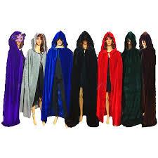 Superhero Halloween Costumes Men Black Red Velvet Hooded Superhero Witch Vampires Cloak Costume