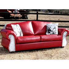 Western Couches Living Room Furniture Leather Western Couches Barn Bunkhouse Sofa Saddleback