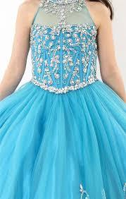 party frocks 2015 enchanting light blue flower girl dress halter corest party