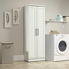 Sauder Homeplus Storage Cabinet Amazon Com Sauder Homeplus Storage Cabinet In Soft White Kitchen