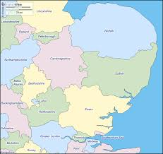 Counties Of England Map by East England Free Map Free Blank Map Free Outline Map Free
