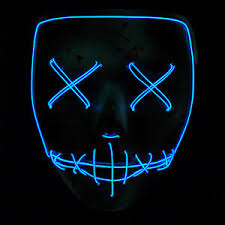 Led Halloween Costumes Purge Movie El Wire Dj Party Festival Halloween Costume Led