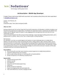 app developer job description mobile app developer job
