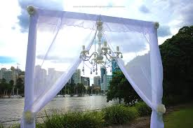 wedding backdrop arch a lavish riverlife wedding ceremony brisbane wedding ceremony
