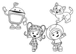 draw team umizoomi coloring color luna