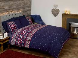 Double Duvet Cover Sets Uk Nordic Blue White Red Quilt Duvet Cover Bedding Bed Set 3 Sizes