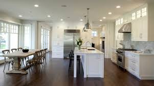 Kitchen Neutral Colors - craftsman style kitchen island kitchen traditional with eat in