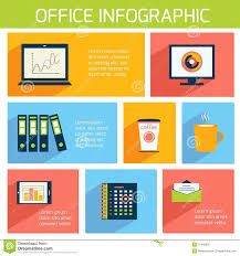 office infographics flat business template stock vector image