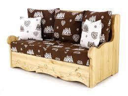 canapé style chalet canapé 2 places avec coffre style montagne chocolat courchevel