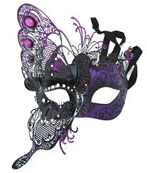 purple masquerade mask venetian mask with butterfly purple crystals masquerade mask