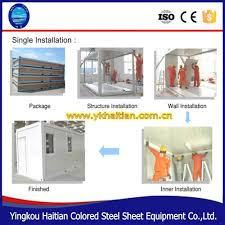 2016 new prefab house container light steel vila container hotel