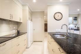 contemporary modern galley kitchen design brisbane with vanilla