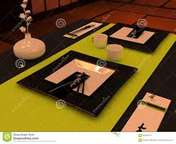 Japanese Style Dining Table by Table Setting In Japanese Style Stock Photo Image 62545819