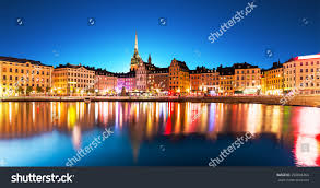 scenic summer night panorama old town stock photo 290804264