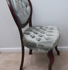 Kimball Victorian Furniture Reproductions by Victorian Style Balloon Back Tufted Chair Ebth
