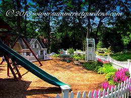 garden design backyard playset ideas