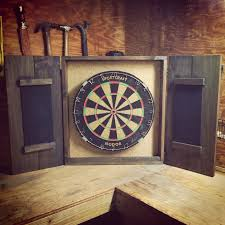 Dart Board Cabinet Plans Dartboard Set Mahogany Stain Pottery Barn Trev Would Love