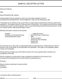 Offer Letter Exle offer letter sle templates forms letter