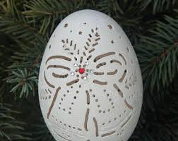 carved goose egg etsy
