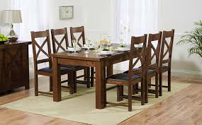 Extending Wood Dining Table with Dark Wood Dining Table Sets Great Furniture Trading Company