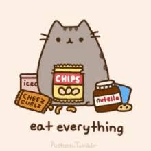 thanksgiving pusheen gif thanksgiving pusheen cat discover