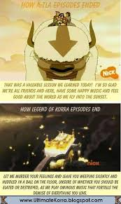 Legend Of Korra Memes - avatar episode endings vs korra episode endings meme komic korra