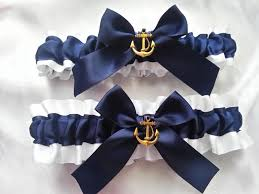 nautical wedding nautical wedding garter set beautiful navy and white or ivory