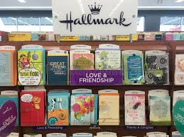 hallmark greeting cards at grocery store editorial stock photo