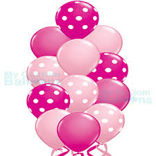 polka dot balloons shades of pink polka dot balloon bouquet 13 balloons my custom