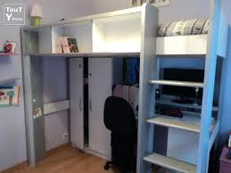 lit mezzanine combiné bureau lit combine armoire bureau trendy lit with lit combine but lit
