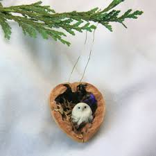 walnut shells for miniature ornaments walnut shell shell and owl