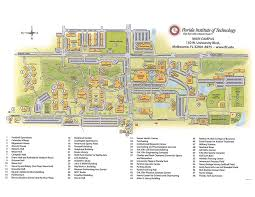 Map Of University Of Florida by Gleason Performing Arts Center