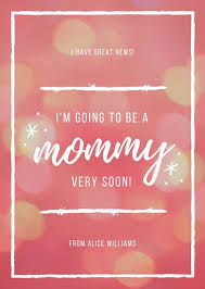 pregnancy announcement cards customize 129 pregnancy announcement templates online canva