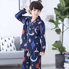 blue lapel children s pajamas boy and autumn sleeve