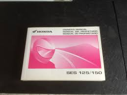 genuine honda dylan owners manual ses 125 part no 37kpzb20 u2022 9 99