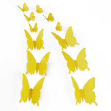 12pcs 15 styles home decor 3d diy butterfly wall sticker butterfly
