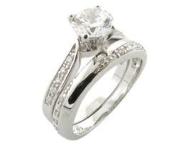 wedding ring sets uk sterling silver simulated diamond ring set accessories of envy