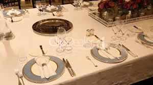 elegant dinner table setting royalty free video and stock footage