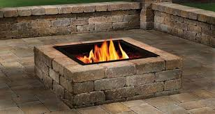 Fire Pit Inserts by Square Or Round Fire Pit Hardscape Contractor Rumblestone Fire Pit
