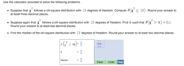 use the calculator provided to solve the following chegg com