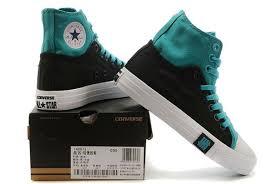 light aqua high top converse converse double upper high top light blue black chuck taylor all