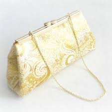 evening clutch gold paisley and emerald green formal clutch