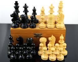 vintage handmade staunton chess set mid century home decor