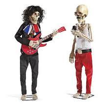 halloween hard rockers skeletons singers electric guitars costume