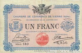chambre de commerce de vienne 1 franc régionalisme et divers vienne 1916 jp 128 12 b99 2060