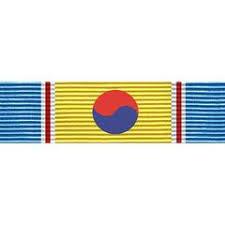 korean service ribbon republic of korea war service vanguard