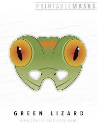printable lizard mask template printable halloween mask lizard mask gecko printable mask