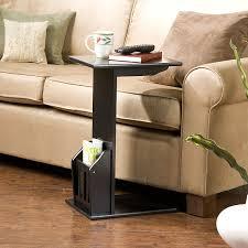 Black L Tables For Living Room Southern Enterprises Black Magazine Snack Table